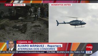 FOTO: Helicópteros Cóndores Llegan Santa Fe Tras Accidente Automovilístico