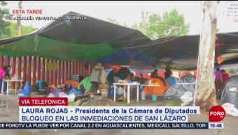 FOTO: Laura Rojas anuncia liberación accesos Cámara Diputados
