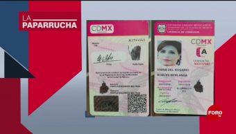 Foto: Licencia Conducir Rosario Robles Paparrucha Día 3 Octubre 2019