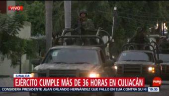 FOTO: Llega convoy con armamento a Sinaloa, 20 octubre 2019