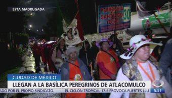 Llegan a la Basílica de Guadalupe peregrinos de Atlacomulco, Edomex