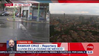 FOTO: Llueve zona centro sur Ciudad México,