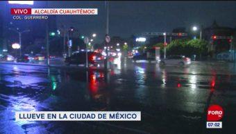 Lluvias provocan encharcamientos en la CDMX