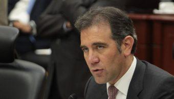 Imagen: Lorenzo Córdova, consejero presidente del INE, critica consulta realizada por actual gobernador de Baja California, el 14 de octubre de 2019 (Cuartoscuro)