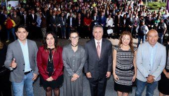 Foto: Manuel Negrete durante su informe, 13 de octubre de 2019, (Alcaldía Coyoacán)