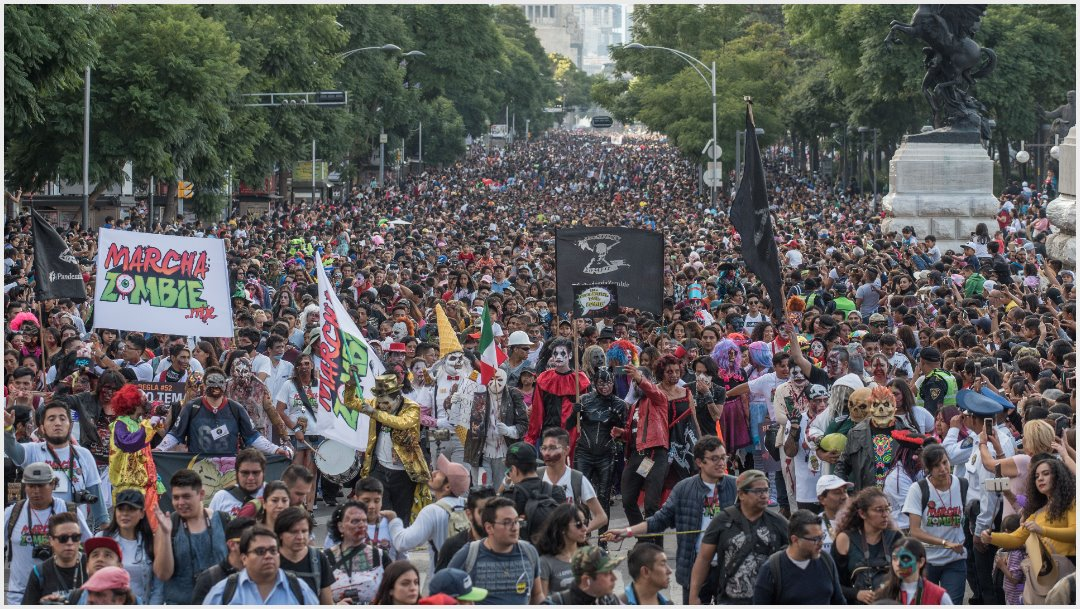Photo: This is how the streets of CDMX were seen this afternoon after being attacked by zombies, October 19, 2019 (MARIO JASSO /CUARTOSCURO.COM)