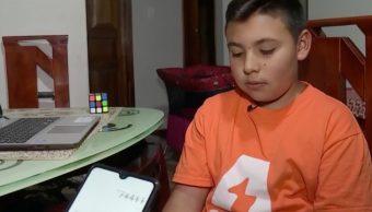 Foto: Martín Nicolás, niño genio de Bogotá. 9 Octubre 2019