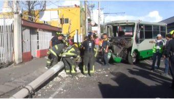 Foto: Diez personas resultaron heridas tras accidente de microbús, 20 de octubre de 2019 (Foro TV)