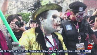 FOTO: Miles de zombies invadieron la Ciudad de México, 20 octubre 2019