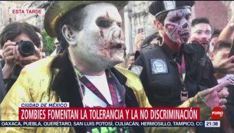 FOTO: Miles de zombies invadieron la Ciudad de México, 19 octubre 2019