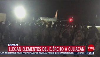 Foto: Militares Elite Llegan Culiacán Sinaloa Hoy 18 Octubre 2019