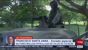 Militares realizan patrullajes Culiacán,