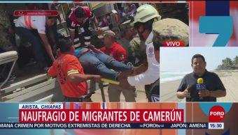 FOTO: Muere migrante por naufragio Chiapas