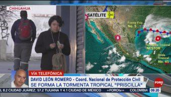 FOTO:Nace la tormenta tropical 'Priscilla', 20 octubre 2019