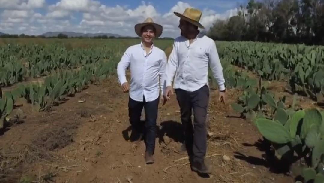 Foto: Adriano di Martí es el nombre de la empresa fundada por Adrián López Velarde y Marte Cázares Duarte, creadora de una piel orgánica hecha a partir del nopal