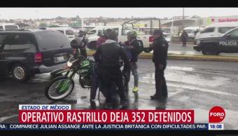 FOTO: Operativo Rastrillo Deja 352 Detenidos Edomex,