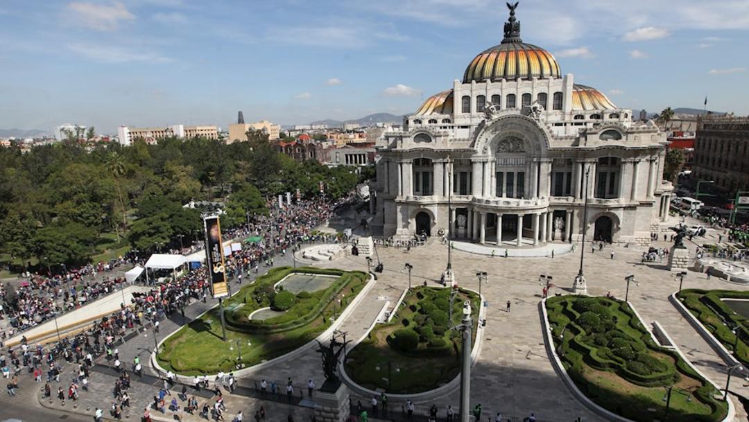 Foto: Vista general del Palacio de Bellas Artes de México durante el homenaje al cantante José José, en Ciudad de México, 9 octubre 2019