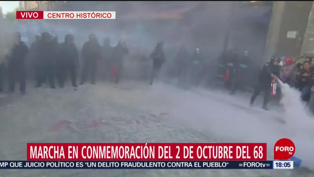 FOTO: Policía CDMX Cierra Paso Jóvenes Encapuchados
