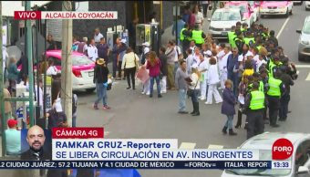 FOTO: Policías retiran manifestantes Avenida Insurgentes