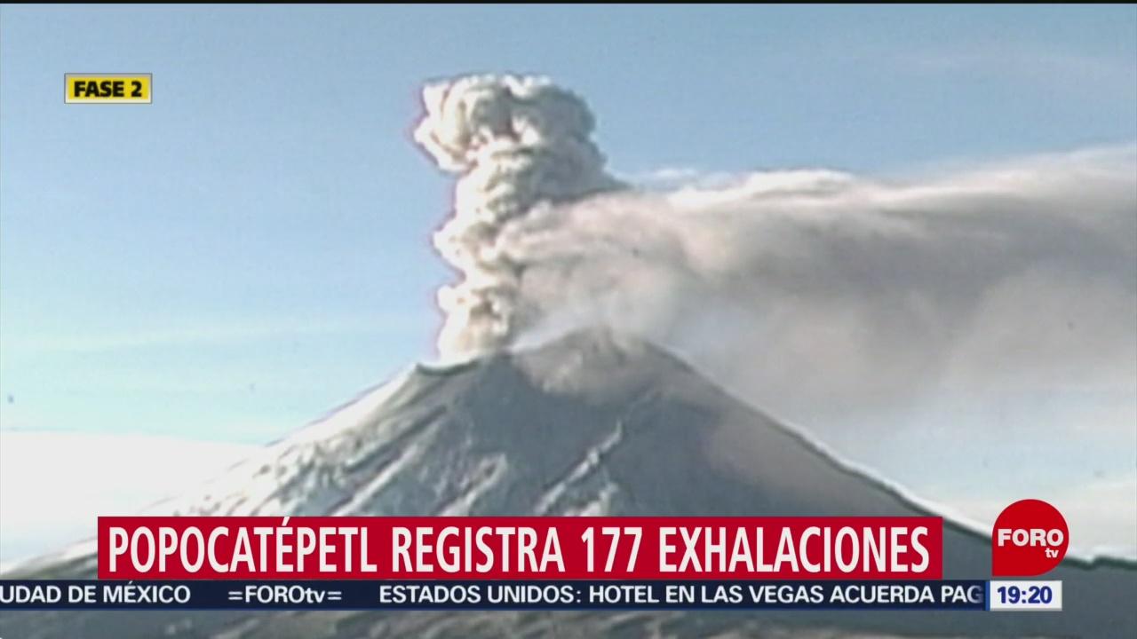 Foto: Popocatépetl registra 177 exhalaciones 3 Octubre 2019