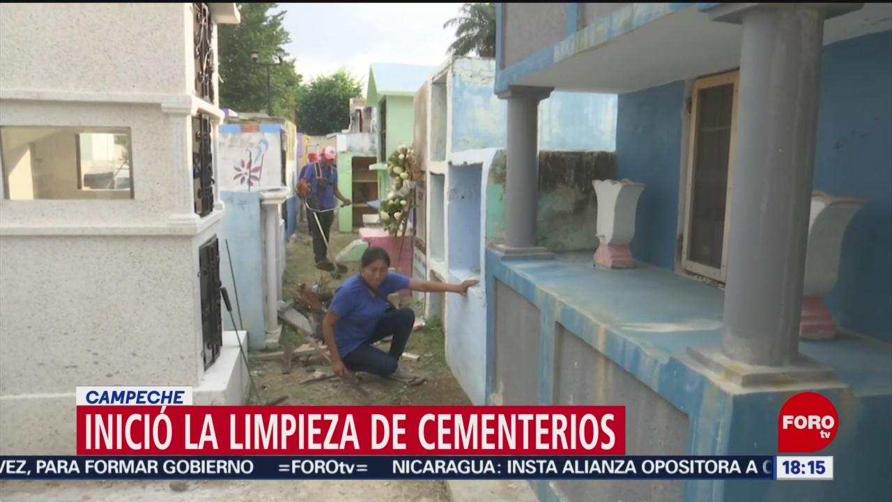 Preparativos para la celebración de Día de Muertos en Campeche