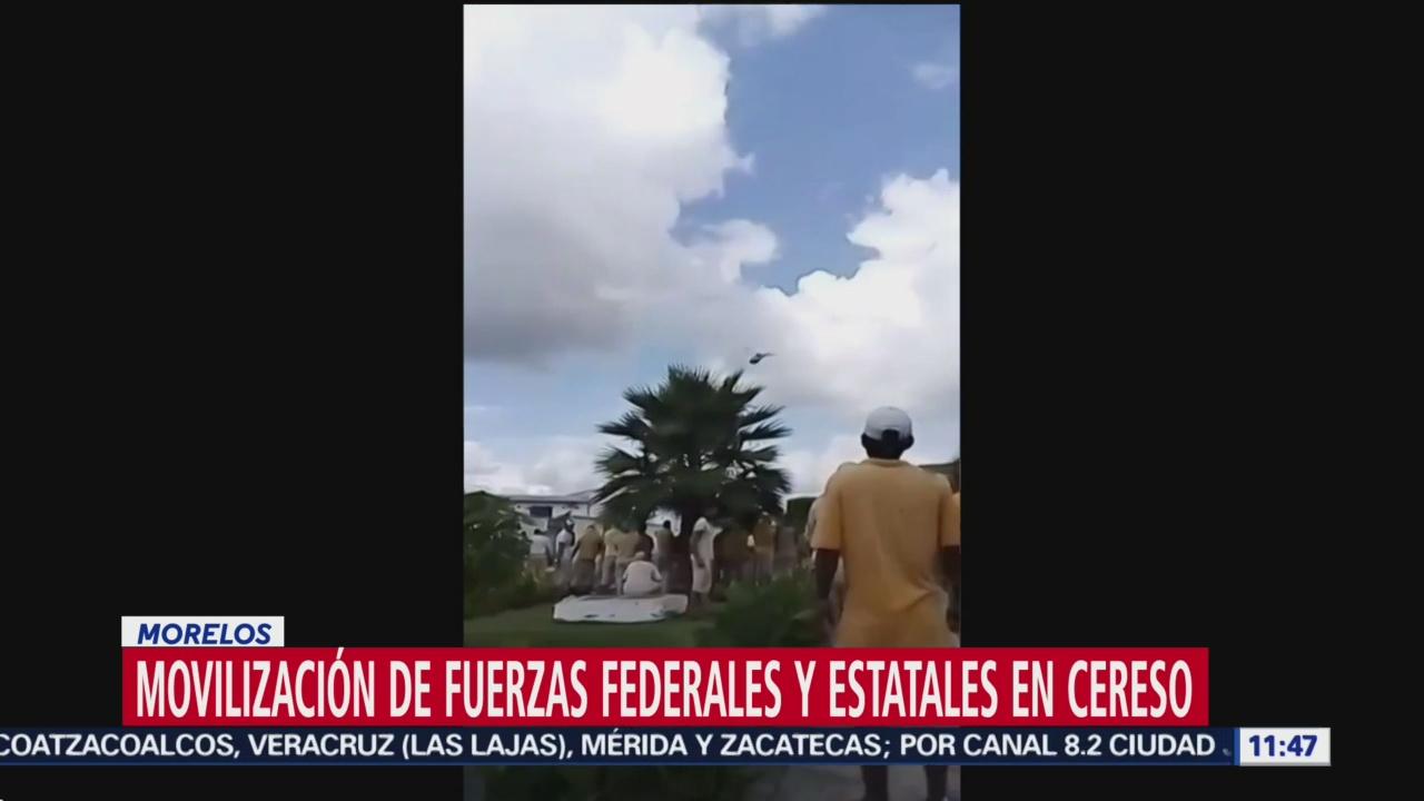 Presunta riña de internos en penal de Morelos provoca movilización policiaca