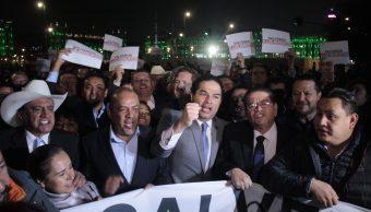 Protesta de alcaldes en Palacio Nacional