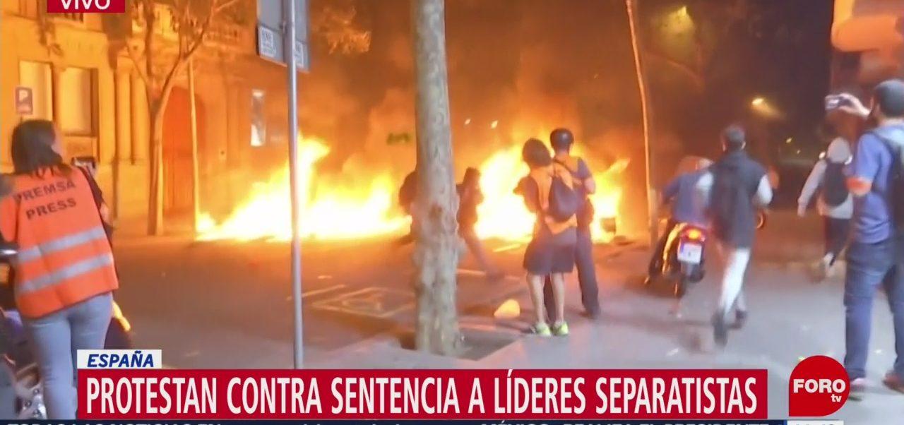 FOTO: Protestan contra sentencia líderes separatistas España
