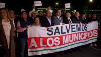 Foto: Protestas de alcaldes Palacio Nacional, 22 de octubre de 2019 Ciudad de México
