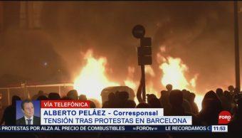 FOTO: Protestas en Barcelona dejan más de 180 heridos, 19 octubre 2019