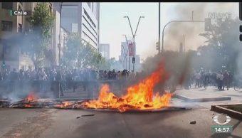 FOTO: Protestas Chile dejan once muertos