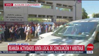 Reanudan actividades en la Junta Local de Conciliación y Arbitraje