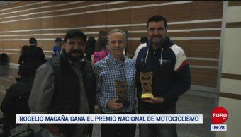 Rogelio Magaña gana el Premio Nacional de Motociclismo
