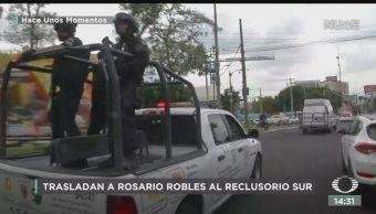 FOTO: Rosario Robles Llega Reclusorio Sur Para Audiencia