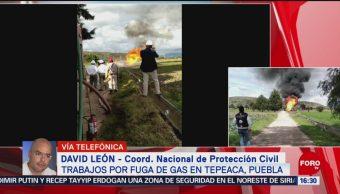 FOTO: Saldo blanco tras fuga gas Tepeaca Puebla