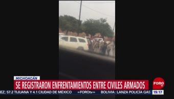 Foto: Enfrentamiento Grupos Armados Reyes Tocumbo Michoacán 21 Octubre 2019