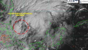Foto Se forma ciclón potencial tropical 16 en el Golfo de México