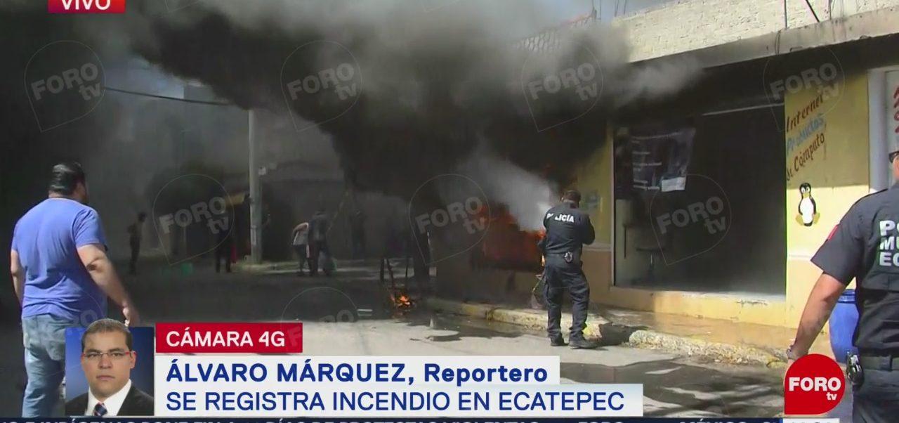 FOTO: Incendio tlapalería Ecatepec Estado México,