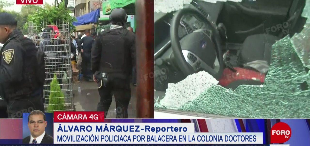 FOTO: Movilización Policiaca Por Balacera Colonia Doctores