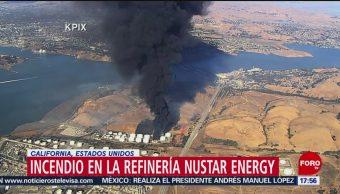 FOTO: incendio refinería San Francisco California