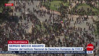 Se registran manifestaciones violentas en Chile