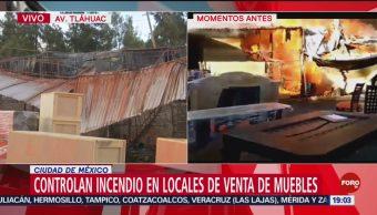 FOTO: Se registró fuerte incendio en la alcaldía Tláhuac, 20 octubre 2019