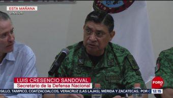 Sedena confirma 8 muertos y 16 heridos por hechos violentos en Culiacán