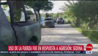 Sedena: Uso de la fuerza fue en respuesta a agresión en Iguala