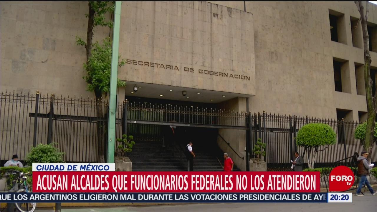 Foto: Alcaldes Plantados Segob Agredidos Palacio Nacional 28 Octubre 2019