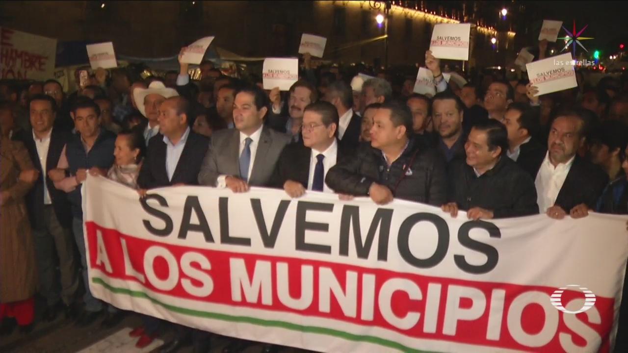 Foto: Segob Recibirá Alcaldes Protestaron Palacio Nacional 22 Octubre 2019
