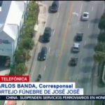 FOTO:Seguimiento del cortejo fúnebre de José José rumbo al auditorio en Miami, 6 octubre 2019