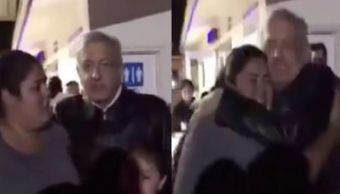 """Foto """"Tú eres mi Presidente y la armarás chin..."""", dice mujer a AMLO 15 octubre 2019"""