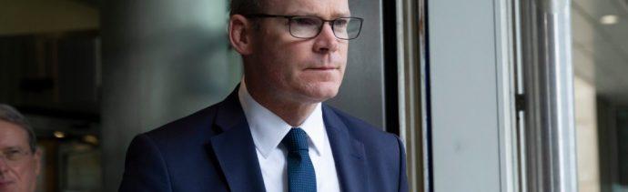 Foto: Simon Coveney, octubre de 2019,