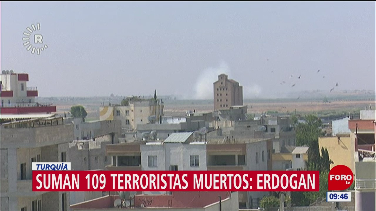 Suman 109 terroristas muertos: Erdogan